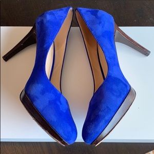 Cole Haan Royal Blue Suede heels on Nike Air sole